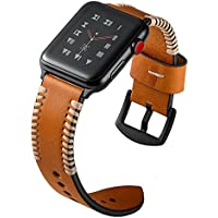 Kartice 42mm Leather Handmade for Apple Watch Band