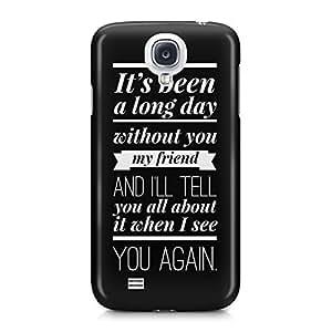 Wiz Khalifa See You Again Lyrics Paul Walker Black Hard Plastic Snap-On Case For Samsung Galaxy S4 by runtopwell