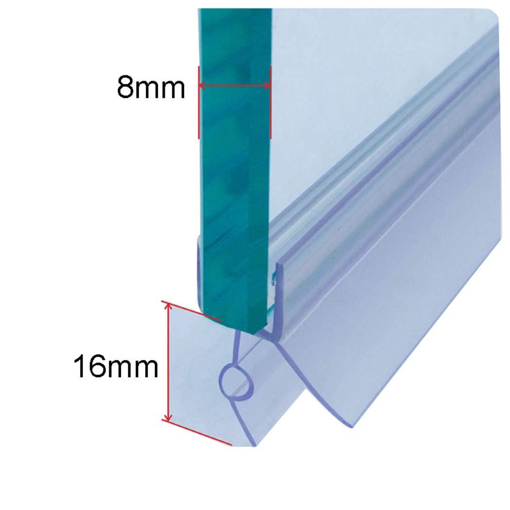 ECYC Sellos de Ducha de bañ o Puertas de Vidrio, Tira de Sellado de Puertas de mamparas de Ducha para grosores de Vidrio de 6 mm (Longitud 0.7M) TM