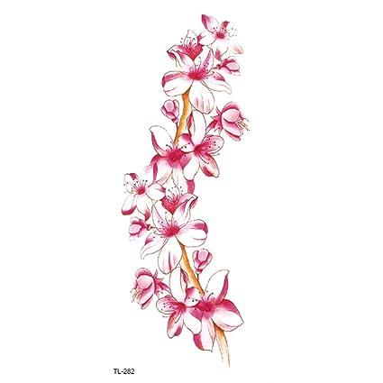 Etiqueta engomada del tatuaje rose lotus peach arm belly stickers ...