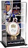 Javier Baez Chicago Cubs 2016 MLB World Series Champions Autographed World Series Logo Baseball and Baseball Display Case with Image - Fanatics Authentic Certified
