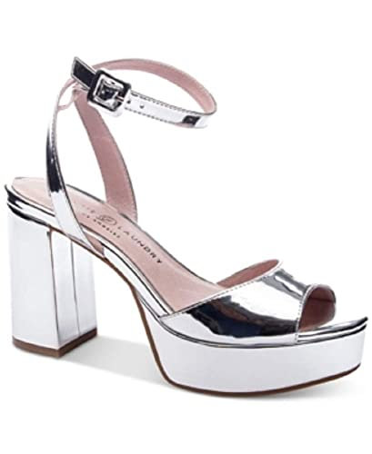 Image Unavailable. Image not available for. Color  Chinese Laundry Trixi  Platform Sandals Silver 9M c60c007ea591