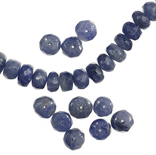 Blue Sapphire Rondelle Beads Facet Natural Genuine 5mm (10) Sapphire Facet Rondelle Beads