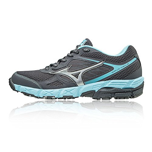 Running 4 Women's Black Wave Trail Mizuno Kien Shoes XwRAv