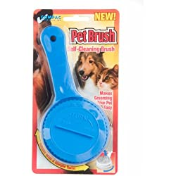 Compac Self Cleaning Pet Brush Twist To Raise and Lower Bristles