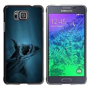 LECELL -- Funda protectora / Cubierta / Piel For Samsung GALAXY ALPHA G850 -- akula shark ryba fish --