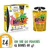 Cheap GoGo squeeZ BlastZ Fruit Pouches on the Go, Tropical Burst, 3.88 Ounce (24 Pouches), Gluten Free, Vegan Friendly, Healthy Snacks, Unsweetened, Reusable, BPA Free Pouches