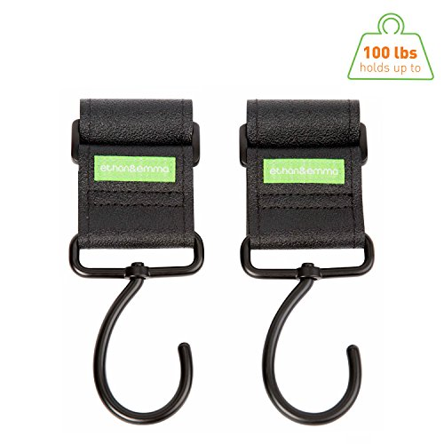Stroller Hooks, Carry Up To 100lb By Ethan & Emma (2 Per Pack)