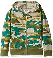 LOOK by Crewcuts Boys Zip Front Hoodie Hooded Sweatshirt