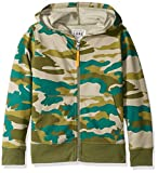 Amazon Brand- LOOK by Crewcuts Boys' Zip Front Hoodie, Camo, Small (6/7)