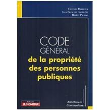 CODE GÉNÉRAL DE LA PROPRIÉTÉ DES PERSONNES PUBLIQUES