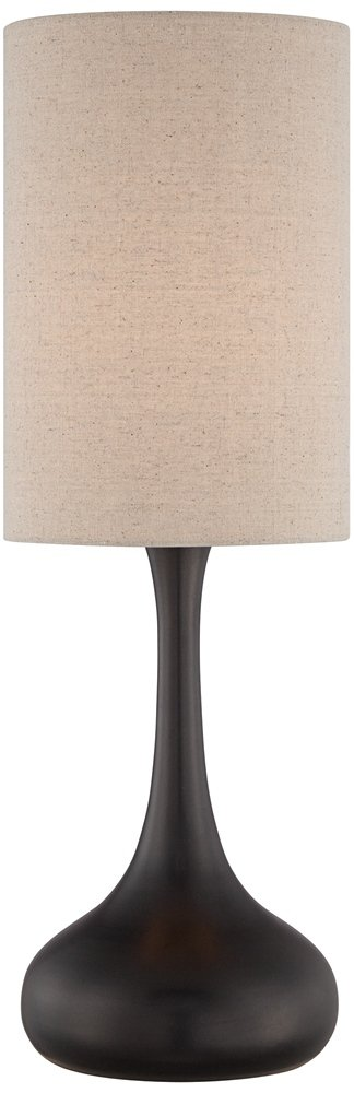 Droplet Table Lamp in Espresso Bronze with Cylinder Shade by 360 Lighting