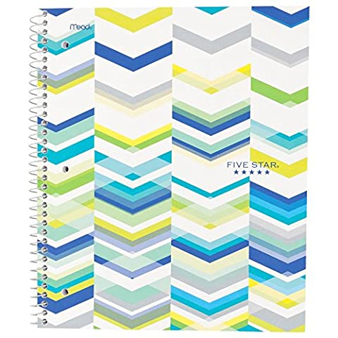 Five Star Style Spiral Notebook, 1 Subject, College Ruled, 11 in.x 8.5 in., Blue (73135) (5 Star 1 Subject College Ruled)