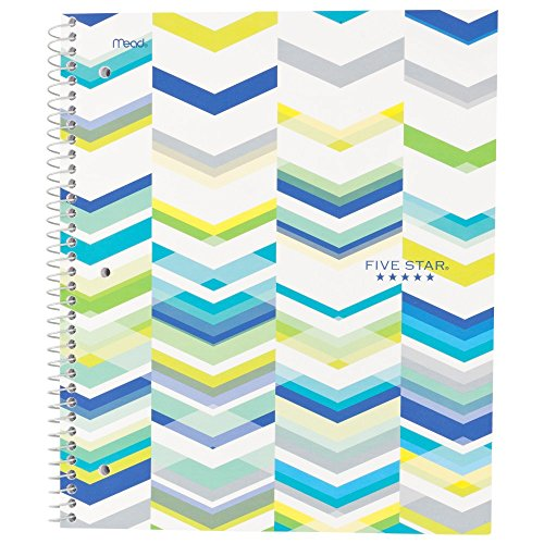 Five Star Style Spiral Notebook,  1 Subject, College Ruled, 11 in.x 8.5 in., Blue (73135)