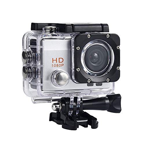 Creazy Waterproof Camera HD 1080P Sport Action Camera DVR Cam DV Video Camcorder (Silver)