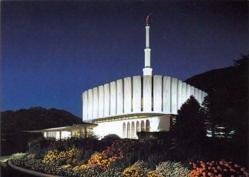 LDS Provo Utah Temple Night - 5x7 Print