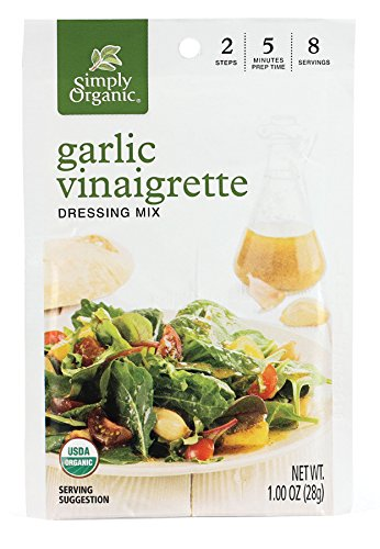 Mix Dressing (Simply Organic Salad Dressing Mix, Garlic Vinaigrette, (Pack of 12))