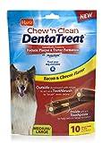 Cheap Hartz Chew n' Clean DentaTreat Bacon & Cheese Flavored Dental Dog Treat – Medium/Large, 10 Pack