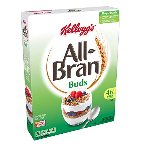 Kellogg's All-Bran Buds, Breakfast Cereal, Wheat Bran, Excellent Source of Fiber, 22oz