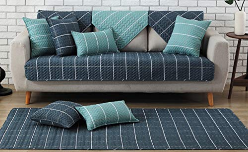 ZebraSmile 1 Piece Various Sizes 100% Cotton Sofa Towel Cover Decrotive Sofa Cover Antiskid Sofa Slipcover For Sofa Seat/Sofa Arm ()