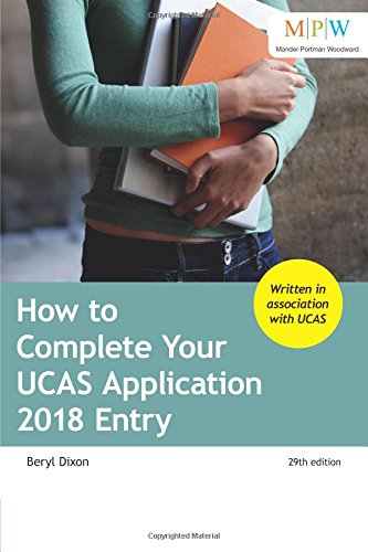 How to Complete Your UCAS Application 2018 Entry Beryl Dixon