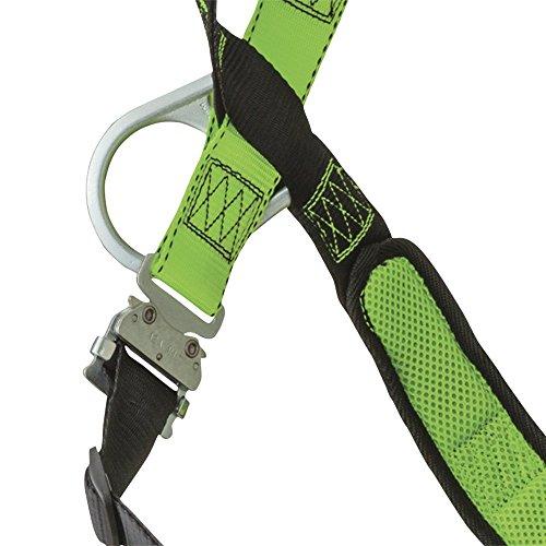 Peakworks V8006110 Peak Pro Series, Full Body Padded Safety Harness, Back D-Ring, (2) Side D-Rings, Stab Lock, Polyester, Universal, Green by Peakworks (Image #3)