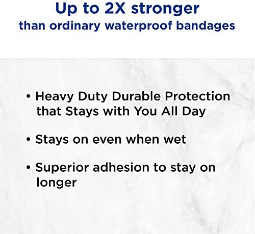 BAND-AID Waterproof Tough-Strips Bandages 20 ea Pack of 3