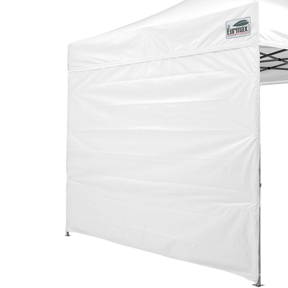 Eurmax Two Sidewalls for 10x10 Pop up Canopy, Removable Zipper End with Zipper Door (2 Walls Only) (White)
