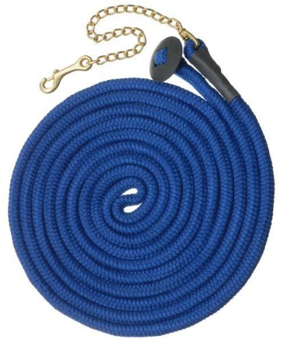 bluee 25' bluee 25' Tough-1 Rolled Cotton Lunge Line w Chain