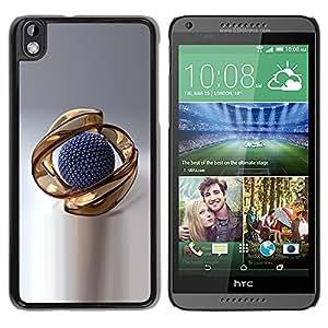 Gold Abstract - Metal de aluminio y de plástico duro Caja del teléfono - Negro - HTC DESIRE 816