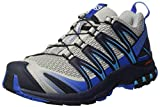 Salomon Men's XA Pro 3D Trail Running Shoes, Quarry/Nautical Blue/Hawaiian Ocean, 7.5 D US