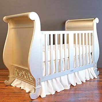 Amazon Com Bratt Decor Chelsea Sleigh Crib Antique Silver Baby