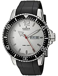 Men's 'Chronorally-S' Quartz Stainless Steel and Rubber Sport Watch, Color:Black (Model: 84300 3CA ABN)