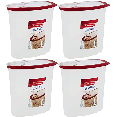 Rubbermaid Multi Purpose Shelf - Rubbermaid Modular Cereal Keeper 1.5 Gal, 4-Pack