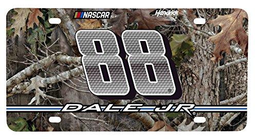 - Dale Jr #88 RealTree Metal License Plate