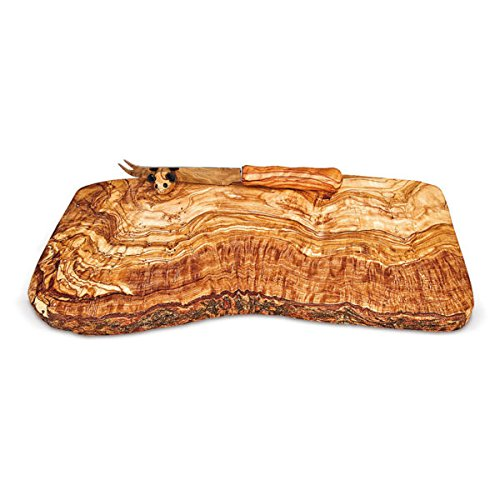 Arte Legno Spello Hand Made Rectangle Olive Wood Cutting Board with Mouse Knife Holder | Hand Crafted in Italy by Arte Legno Spello (Image #4)