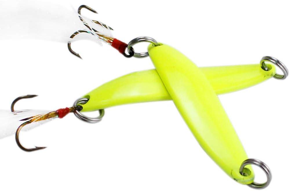 menolana 10Pcs Night Fishing Lure Bait Luminous Hard Bait Night Glow Artificial Lure