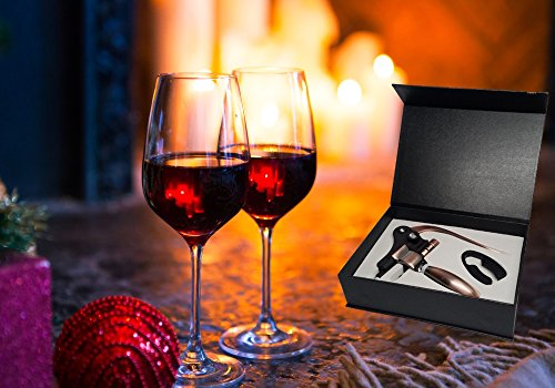 Style Lever Corkscrew Wine Bottle Opener with Foil Cutter and Extra Spiral Gift Set by GSCW (Image #5)