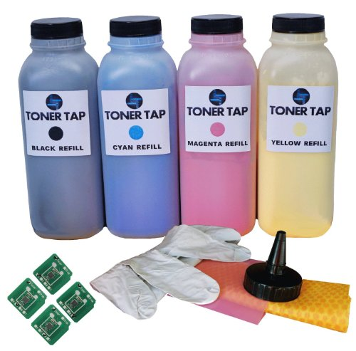 Toner Tap Premium Refill Kit With CHIP for Samsung® CLP-620ND, CLP-670N, CLP-670ND, CLP-620 CLP-670, CLX-6220, CLX-6220FX, CLX-6250, CLX-6250FX CLT-K508L, CLT-C508L, CLT-M508L, CLT-Y508L Black, Cyan, Magenta, Yellow - Black Yield 5,500 pages - Color Yiel