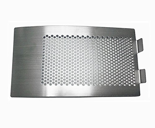 WANRAY Big Green Egg Accessories,Stainless Steel Punched MESH Panel Fits for Medium,Large Big Green Egg Draft Door Kamado Grill Accessories Egg Bottom Vent Replacement Punched Metal ()
