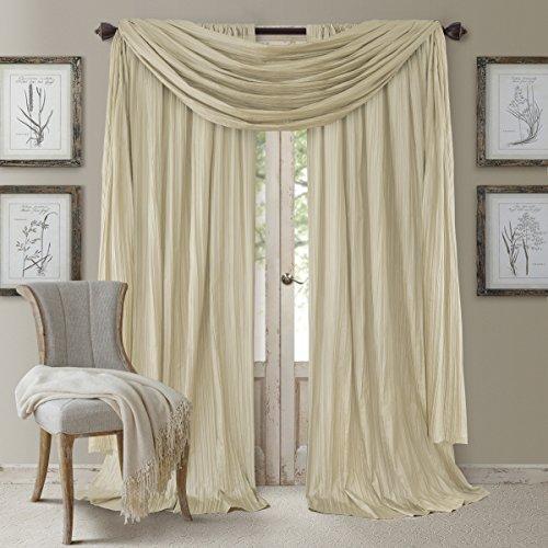 Elrene Home Fashions 026865881509 Window Curtain Drape Rod Pocket Panel, Set of 3, 52