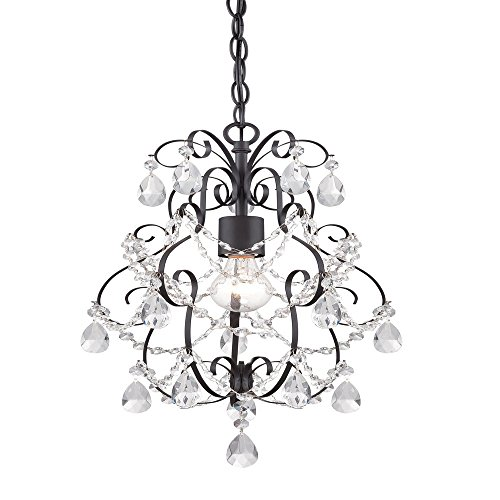 Flora 1 Light Pendant - Designers Fountain 6204-ORB Flora 1 Light Mini Chandelier