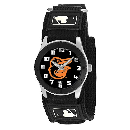 Game Time Boy's 'Rookie' Quartz Metal and Canvas Casual Watch, Color:Black (Model: MLB-ROB-BAL2) (Canvas Rookie)