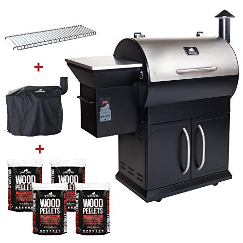 Grilla Grills - Silverbac Alpha Model Bundle | Multi Purpose Smoker and BBQ Wood Pellet Grill with Dual Mode PID Controller | Stainless Steel Construction | Up to 900 Sq. in Cooking Space Uncategorized