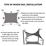 Shade&Beyond Sun Shade Sail Rectangle Canopy