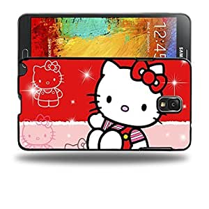 Case88 Designs Hello Kitty Collection 0627 Protective Snap-on Hard Back Case Cover for Samsung Galaxy Note 3