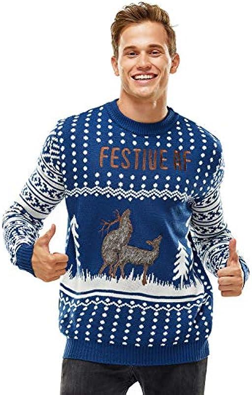 Damska Weihnachtspullover Lustig Unisex Hässliche Pulli Strickpullover Ugly Weihnachtspulli mit weihnachtlichen Motiven für Damska Męskie Weihnachtsparty: Odzież