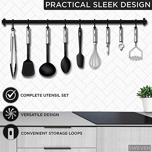 Kitchen Utensils Set - 23 Nylon and Stainless Steel Kitchen Utensil Set - Best Kitchen Utensils for Cooking - Essential Cooking Utensils Set and Kitchen Supplies - Kitchen Gadgets and Kitchen Tools