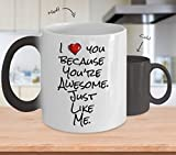 """THE AMAZING """"I love you because you're awesome"""" COLOR CHANGING MUG. THE PERFECT VALENTINES GIFT!"""