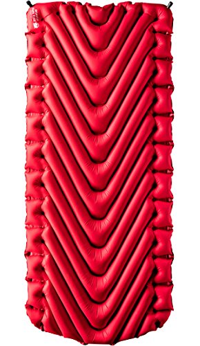 Klymit Insulated Static V Luxe Camping Air Mattress, Red/Char Black, X-Large by Klymit (Image #1)